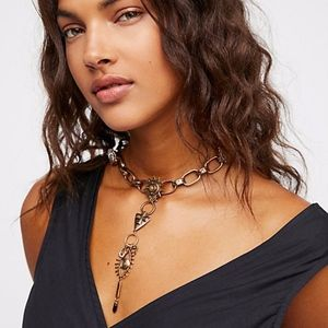 Free People Odette Charm Chain Collar Necklace